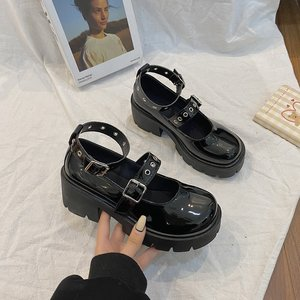 Heel shoes model Mary Jane shoes women's  high heels platform shoes Harajuku retro Lolita shoes high heels