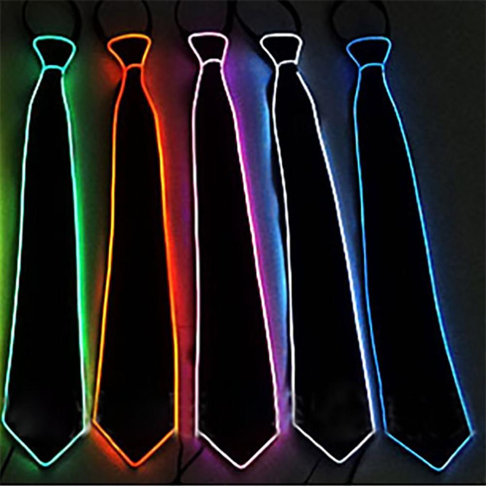 Regalo de Hombre Nuevo Unisex Japón Corea luz casual EL tie show fiesta LED tie bar noche show fiesta Hochzeit Weihnacht corbatas para hombre