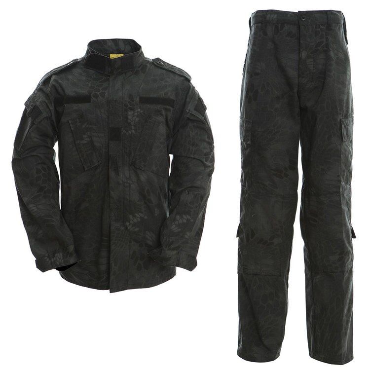 uniforme militar men tactical hunting clothing black python camouflage hunting clothes women army combat multicam shirt pants Camouflage Military Army Tactical Uniform Set Multicam Black Combat Shirt BDU Pants Men Hunting Clothes Airsoft Sniper Clothing