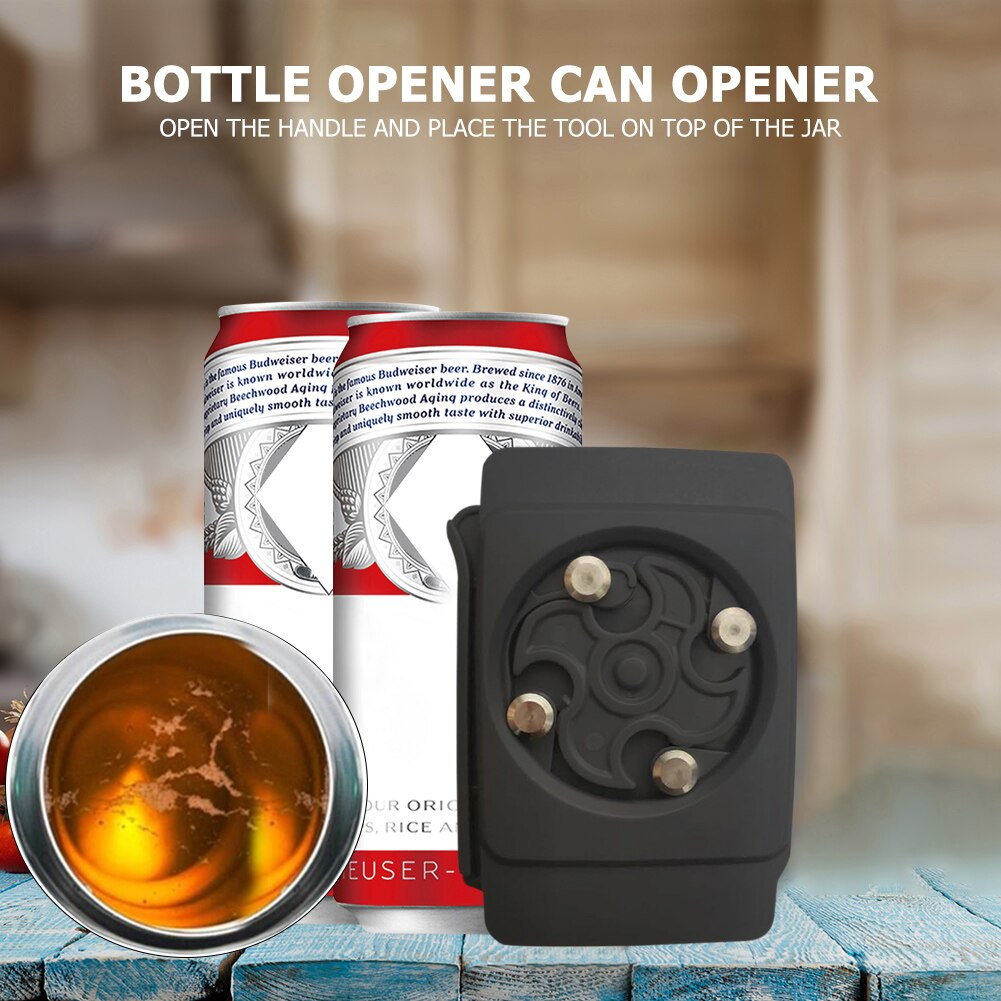 Vktech topless universal abridor de lata abs pro segurança cozinha barra ferramenta abridor de garrafa multifuncional pode frasco tampa de garrafa abertura ferramenta