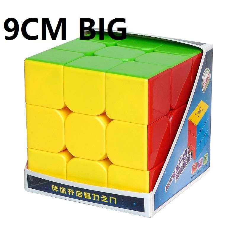 mind games HeShu 9CM Big 3x3x3 Magic Cube Puzzle Safe ABS Twist Cubo Magico Educational Toy for Children  Learning Toys Mind Games