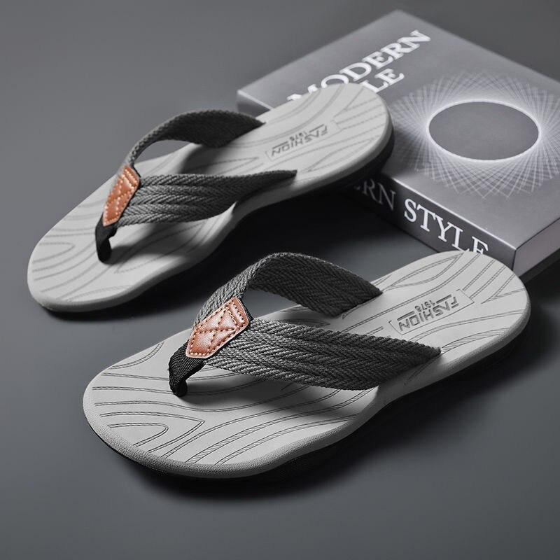 Coslony flip flops for Men Slippers Summer Outdoor Slippers Beach Male Soft Bottom Non-slip Slippers Shoes indoor slippers