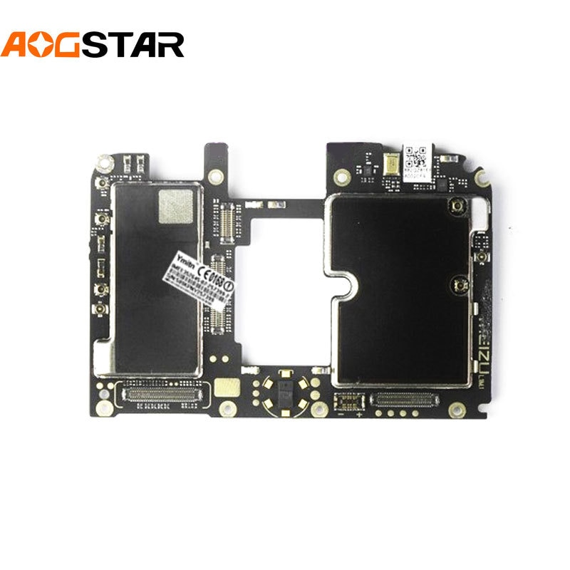 Aogstar Panel electrónico móvil placa base desbloqueado con circuitos de Chips Cable flexible para Meizu 16 16th Plus 16plus 16X