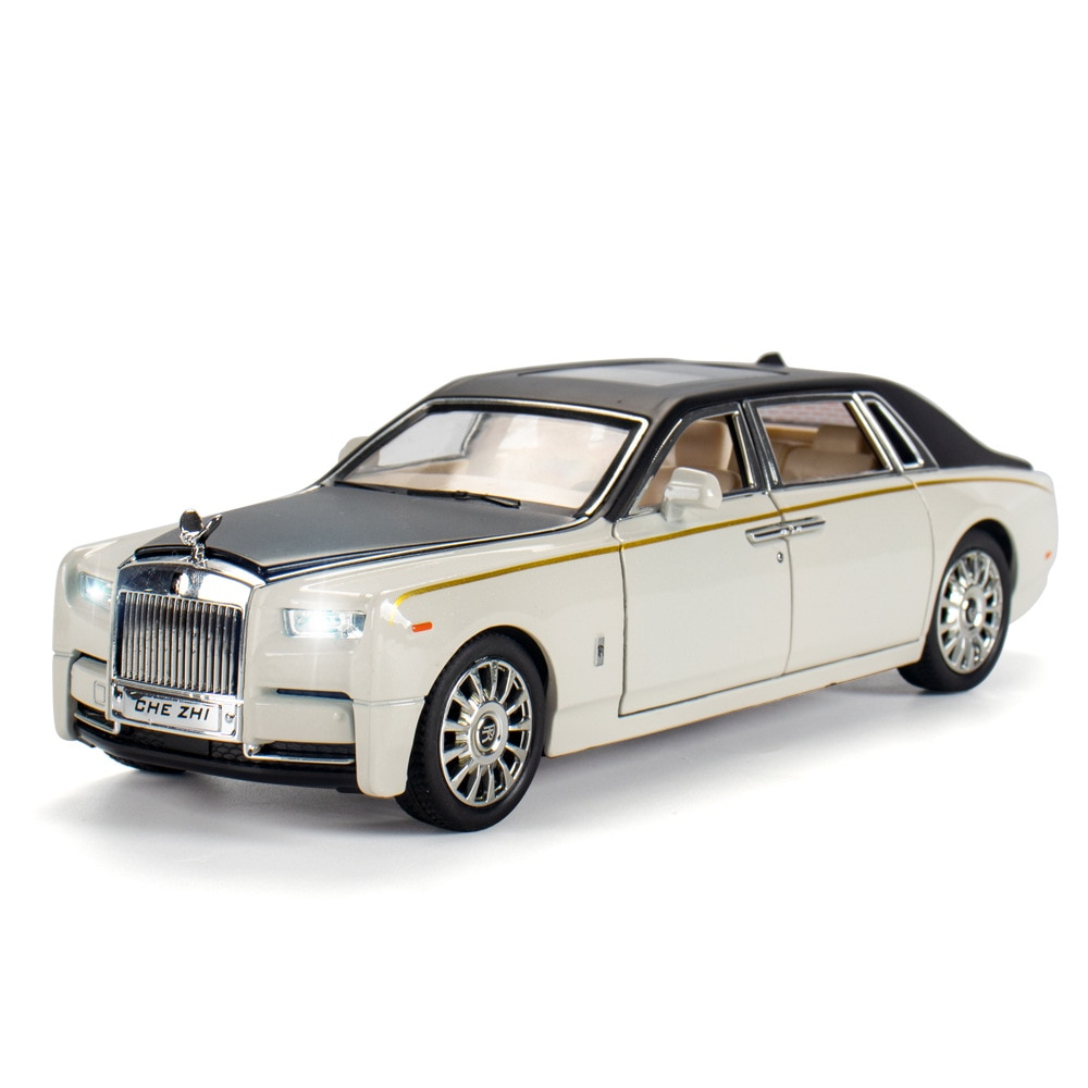 1:24 Alloy Car Model Diecast Toy Vehicle Metal Collection Sound And Light Door Open Pull Back Toys Cars For Boys Birthday Gifts