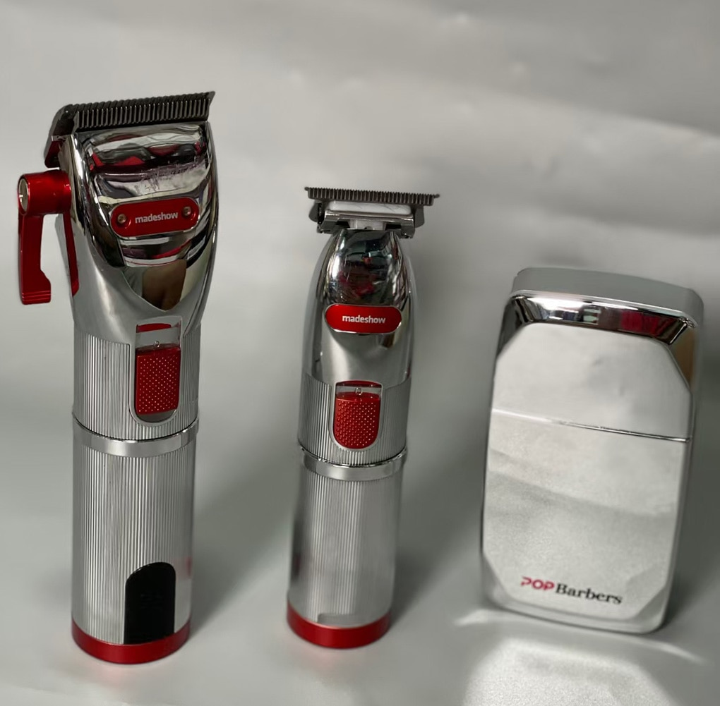 Professional 3pcs/ lot Hair Electric Clipper Set Barber Hair Cutting Trimmer Shaving Razor Clipper Barbershop Haircut Tools enlarge