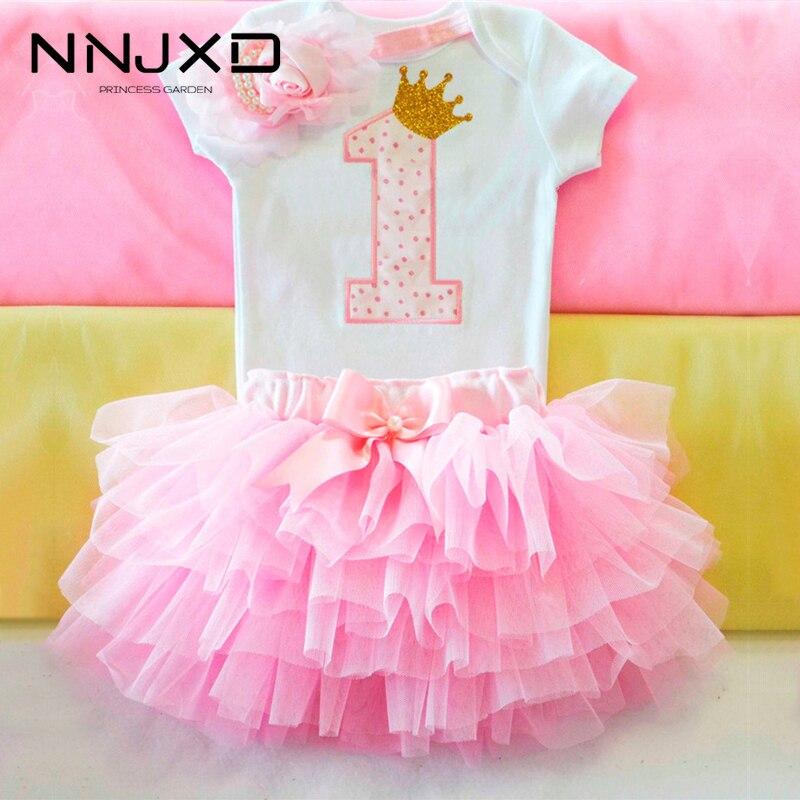Милое розовое праздничное платье пачка для первого дня рождения для маленькой девочки нарядная одежда детское платье одежда для крещения для маленьких девочек 9, 12 месяцев