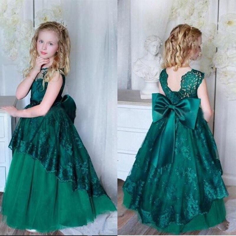 м мадера долина эдельвейсов и день рождения принцессы Милое кружевное зеленое платье на день рождения для маленьких девочек, платья принцессы на Рождество и новый год