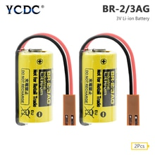 YCDC, 2 uds., batería BR-2/3AG, 3V, 1200mAh, PLC, Control FANUC, baterías de ion de litio de respaldo para sistema Fanuc CNC