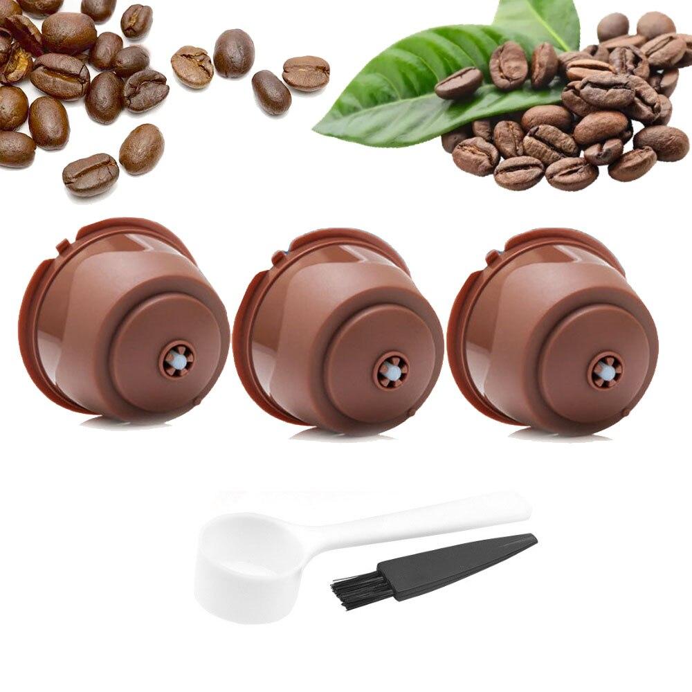Capsules de café réutilisables de nescafé Dolce Gusto, capsules rechargeables, cuillère, filtre, dosette, doux