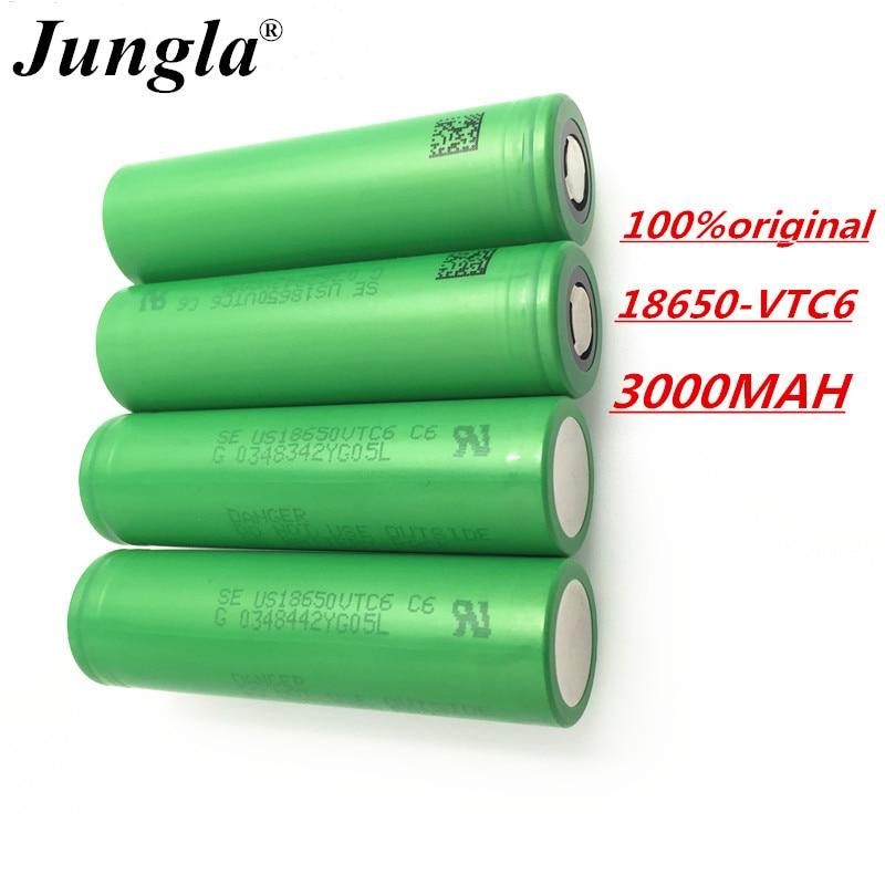 100% batería original 3,7 V 3000 MAH Li ion recargable 18650 para SONY us18650 vtc6 30A 3000mah juguetes herramientas linterna