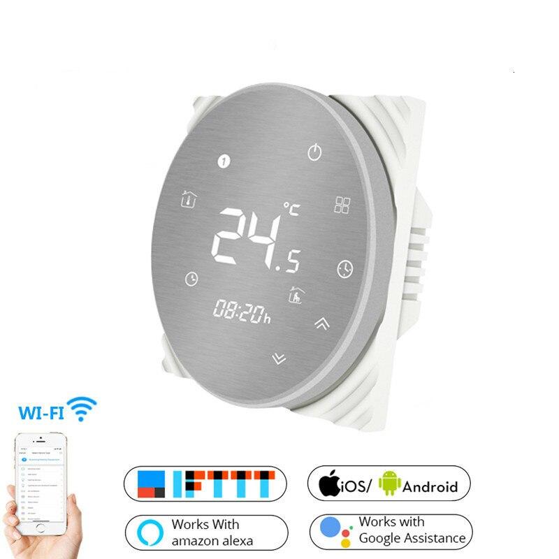 Inteligente WiFi termostato controlador de temperatura agua eléctrica caliente suelo calefacción agua Gas caldera funciona con Echo Google Home Tuya