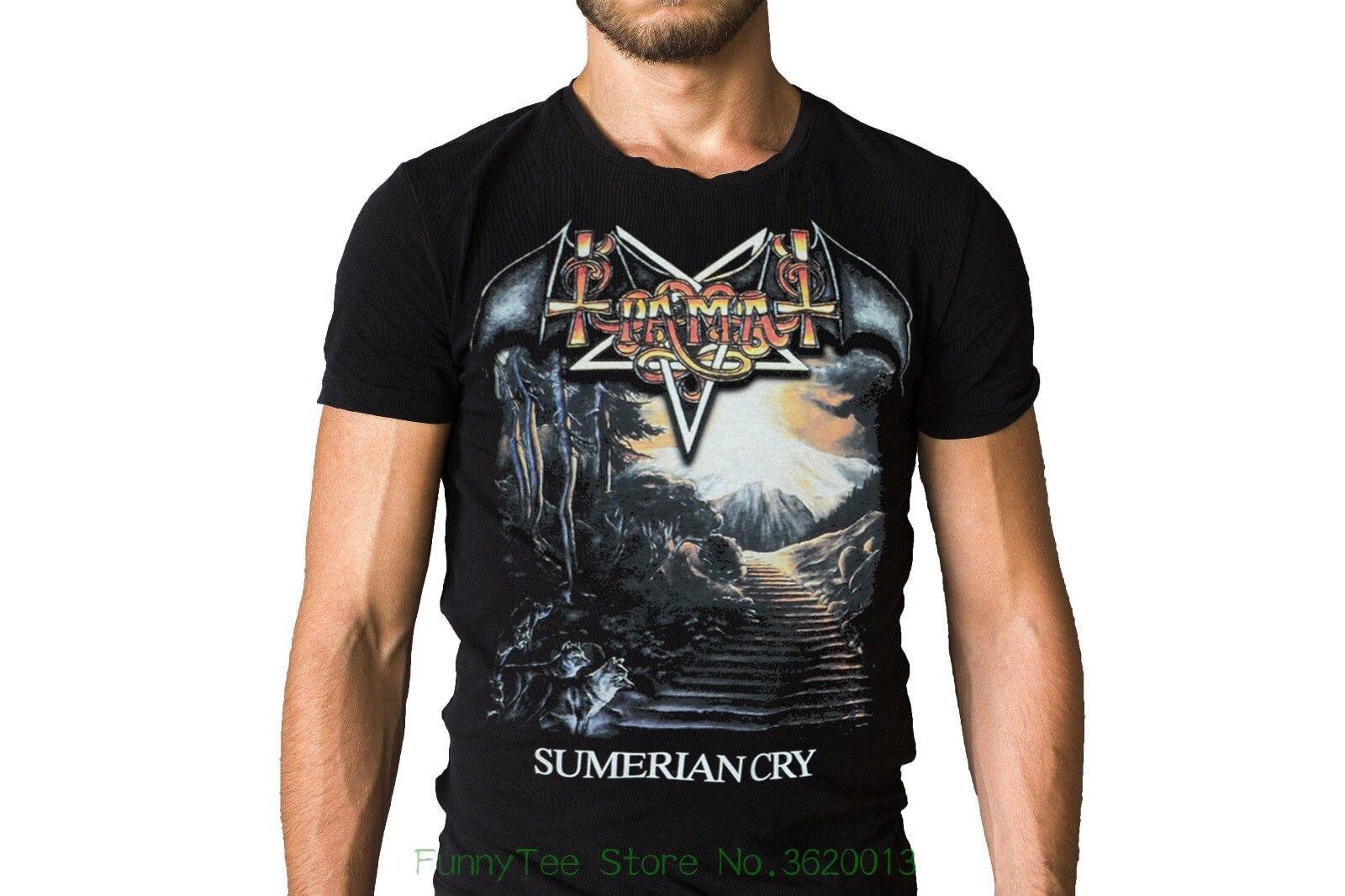Tiamat sumerio llorar 1990 camiseta con portada del disco