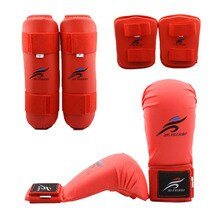 Child Boxing Taekwondo Sparring Gear  Karate Palm Gloves Finger Guard MMA Training Forearm Arm Leg Shin Pad Protect Equipment