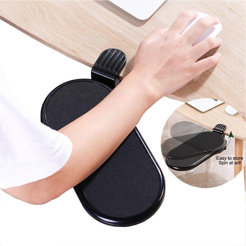 Rotating Computer Arm Support Ergonomic Adjustable PC Wrist Rest Extender Desk Hand Bracket Shoulder Pad Mount Office Mouse Pad