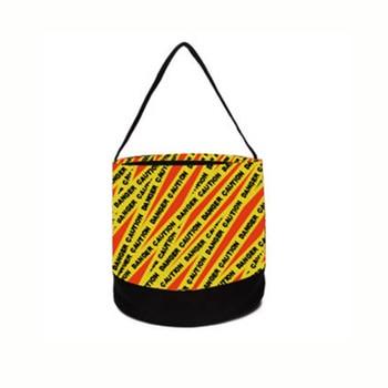 100pcs Lot 2021 Cautions Stripes Halloween Bucket  Diamond Basket Gift Collection Bag DOMIL1896