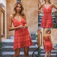 zogaa spaghetti strap floral women sleeveless v neck mini bodycon dress 2021 new summer ladies sling backless vestido