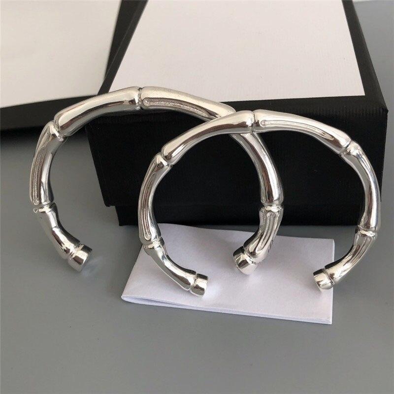 Tecido de prata esterlina 925, pulseira de prata requintada, micro escala clássica, presente de joias de logotipo clássico original