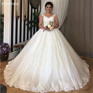 New Arrival Lace Wedding Dresses 2021 Gorgeous Ball Gown Sweetheart Bridal Gown Dubai Vestido De Casamento Robe De Mariee