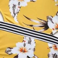 long sleeve one piece swimwear print floral swimsuit 2021 x4y7 rashguard zipper back surf new women hollow rash guard yello j1e6
