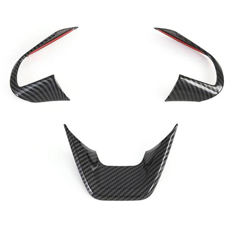 De fibra de carbono moldura para cubierta del volante de etiqueta engomada del Panel Interior accesorios de coche para Hyundai Cantus Creta Ix25 2020