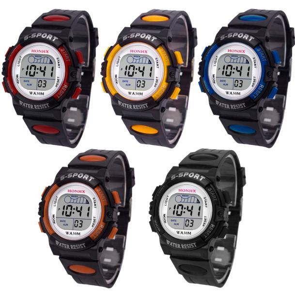 Waterproof Children Casual LED Sports Digital Watch Kids Alarm Date Wristwatch Clock Boys Gift Reloj Hombre Relogio Masculino