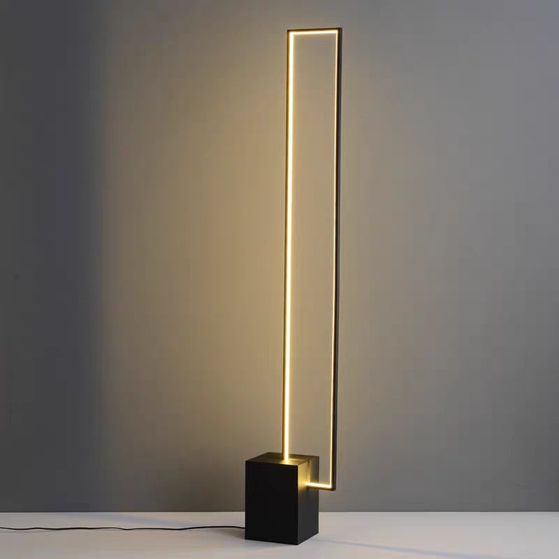 Post-modern Creative Floor Lamps Nordic Home Led Light For Living Room Decoration Study Bedroom Exhibition Hall Rectangular Lamp