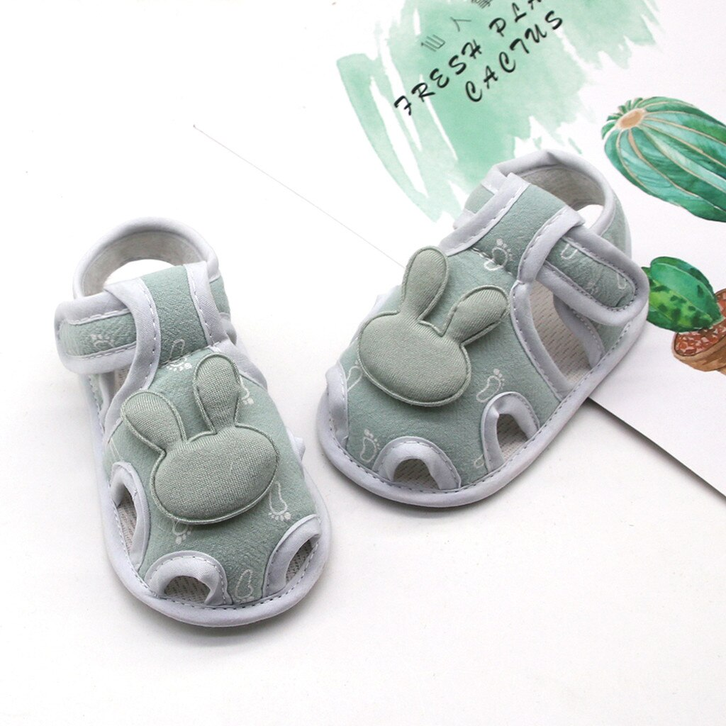Baby Girls Boy First Walkers Cartoon Rabbit Infant Newborn Prewalker Printing Single Shoes Soft Summer Anti-slip Sole Sneakers