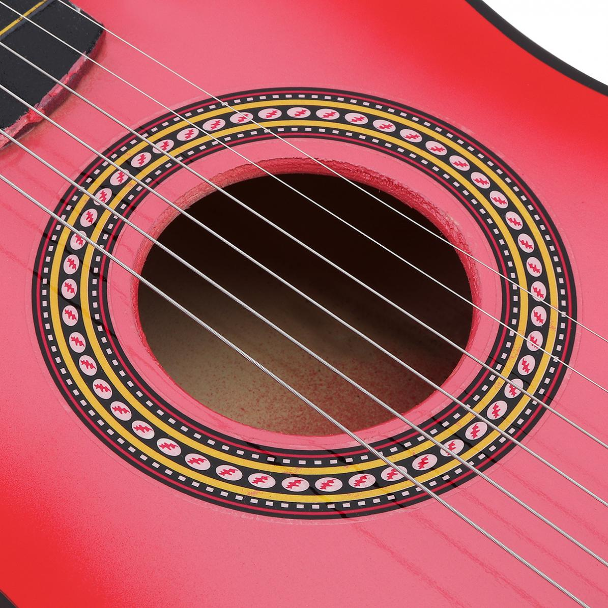 23 Inch Black Basswood Acoustic Guitar With Guitar Pick Wire Strings Musical Instrument enlarge