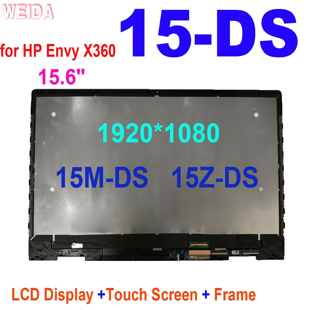 15.6 inch LCD for HP Envy X360 15-DS series 15M-DS 15Z-DS LED LCD Display Touch Screen Digitizer Assembly Frame 15-DS0041AU