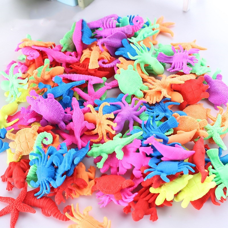 100PCS Growing In Water Bulk Swell Sea Creature Various Kinds Mixed Expansion Toy Colorful Puzzle Creative Magic Toys