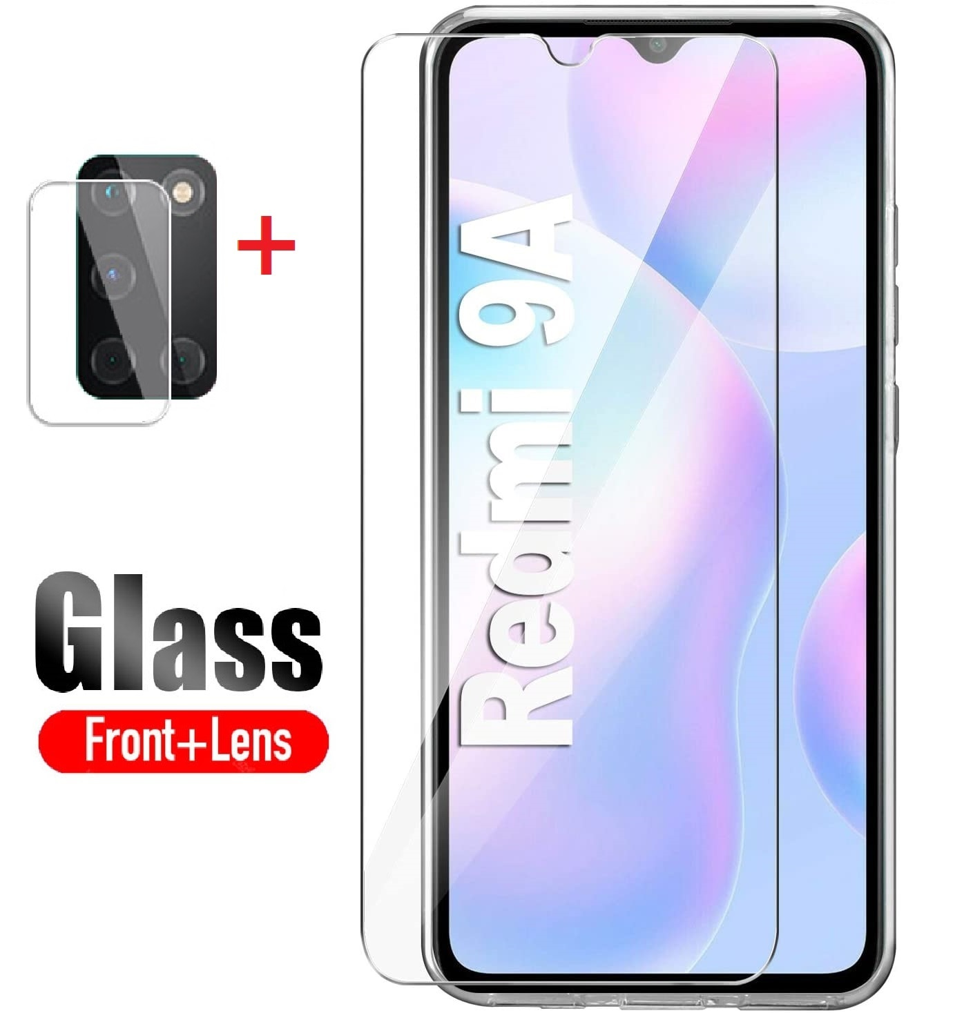 2 in 1 Protector For Xiaomi Redmi 9 NFC Screen Protector Tempered Glass For Redmi 9 9C 9A Camera Len