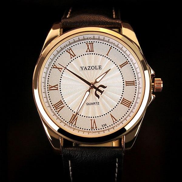2021 Fashion Minimalist Watch Yazole Men Watches Brown Leather Band Analog Quartz Wristwatches Reloj Hombre Relogio Masculino