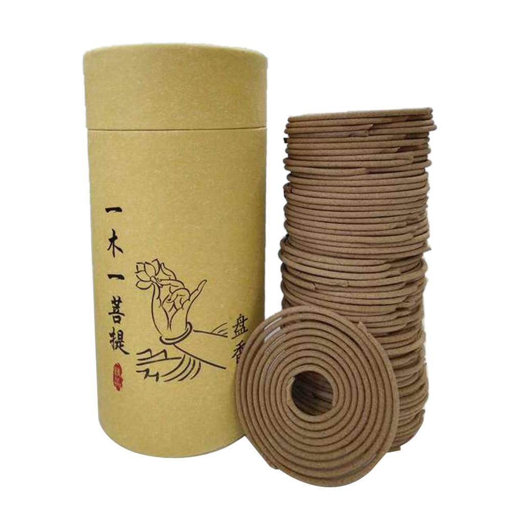 Natural Sandalwood Incense Home Fragrance Spiral Coil Incense Air Refreshing
