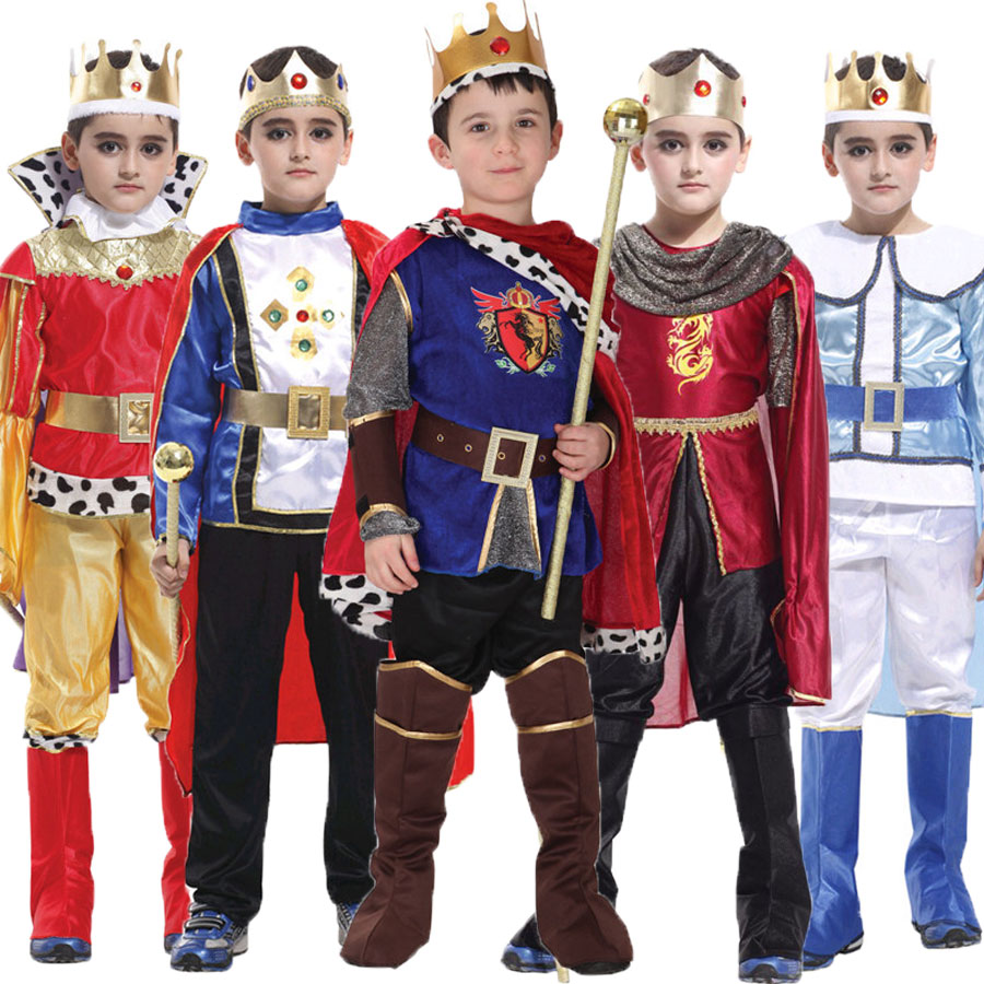 Umorden Halloween Purim Carnival The King Prince Costume for Boy Boys Kids Children Fantasia Infantil Cosplay Clothing Set halloween purim costumes for kids girls carnival the king prince costume for boy boys children fantasia infantil cosplay child
