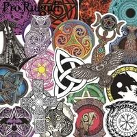50pcs vikings runes symbols children scrapbooking stickers waterproof pvc skateboard guitar suitcase graffiti sticker kids