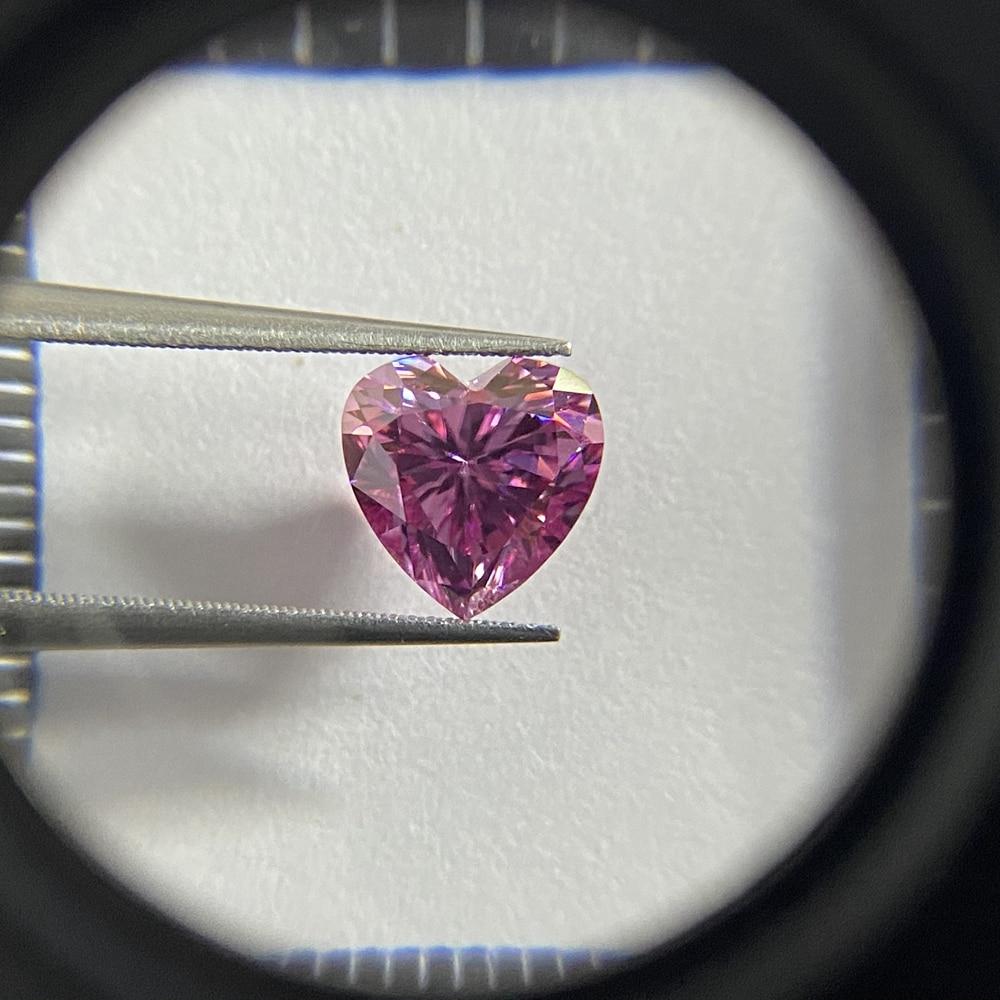 Meisidian شكل قلب 10x10 مللي متر 4 قيراط VVS1 2021 منتجات جديدة الوردي مويسانيتي الماس حجر
