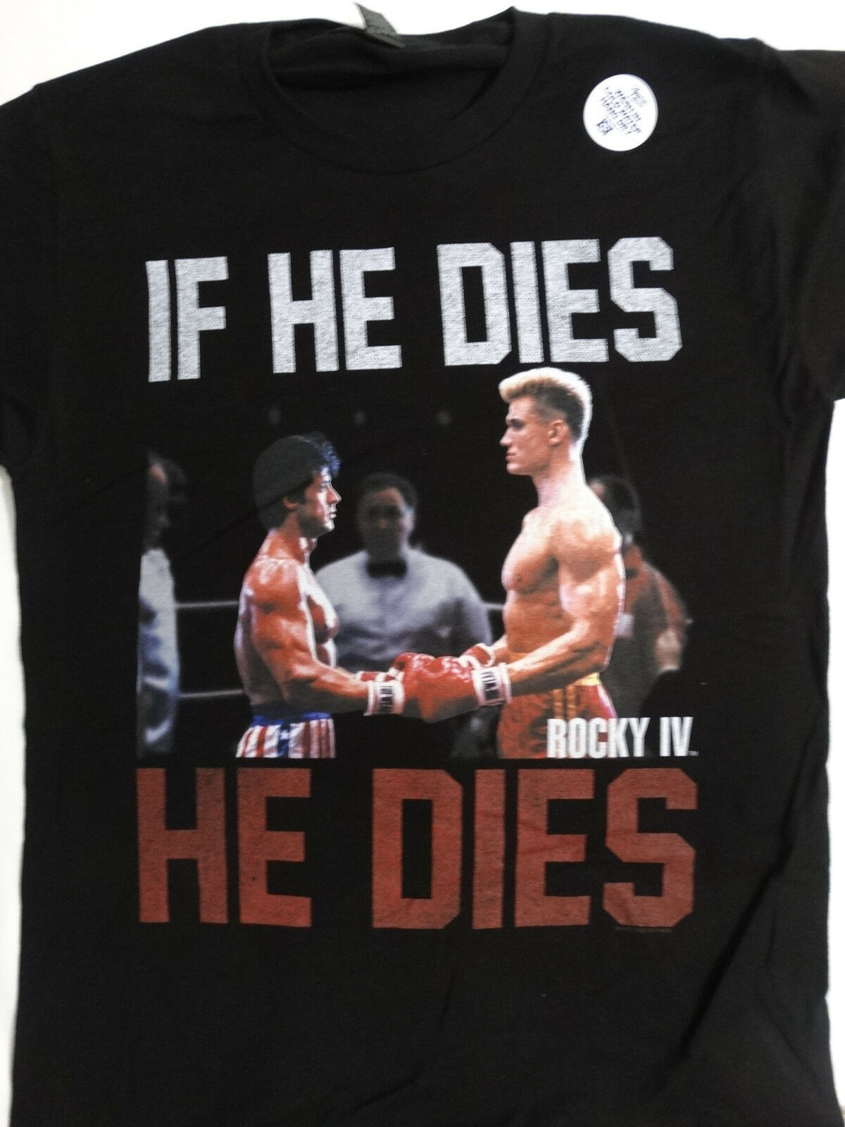Rocky iv filme rocky balboa vs ivan drago se ele morrer ele morre camisa preta