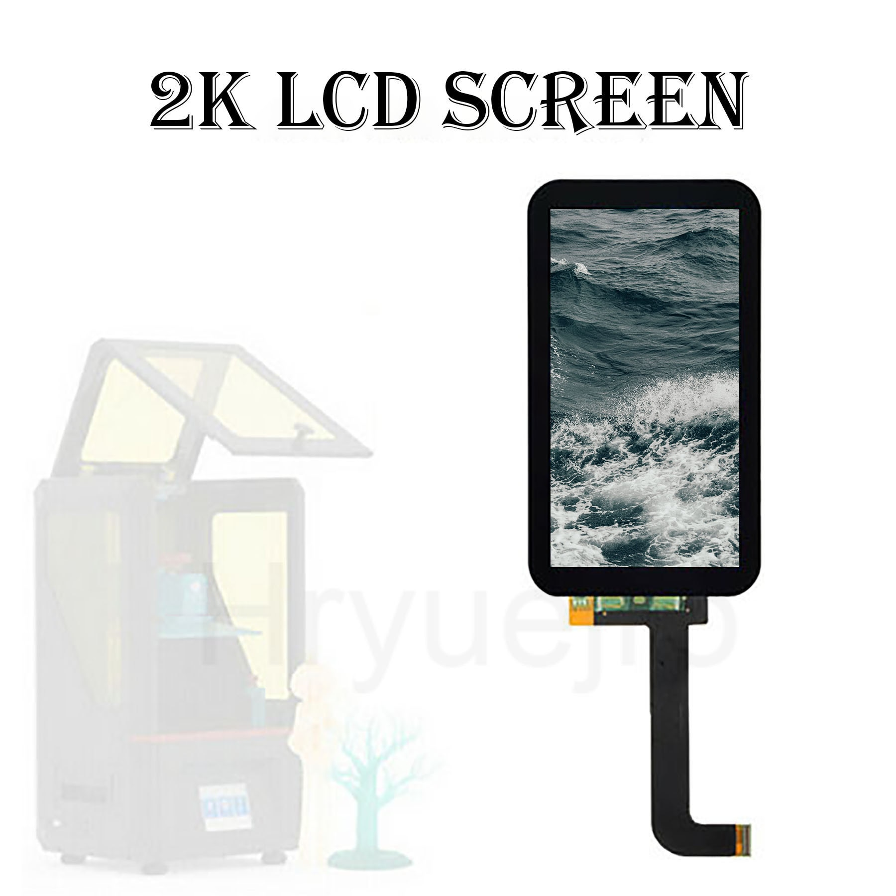 LCD Light Curing Display Screen Module 2560x1440 For ANYCUBIC PHOTON 3D Printer Parts 2K LCD Screen Accessories Repaier Replace