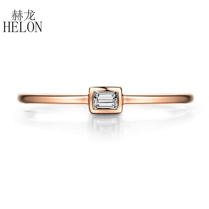 HELON-خاتم باغيت من الذهب الوردي عيار 18 قيراطًا AU750 ، 100% قيراط ، SI/H ، ألماس طبيعي ، خطوبة ، مجوهرات راقية ، للنساء