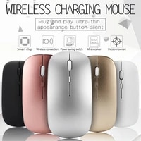 for pc laptop wireless mouse rgb 2 4ghz computer mouse gaming silent rechargeable cordless optical scroll usb games mice