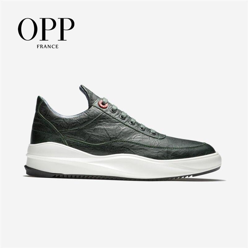 Zapatos de hombre OPP, mocasines de masaje para hombres, zapatos planos de cuero de vaca, mocasines, calzado para hombres, zapatos planos de aumento de altura