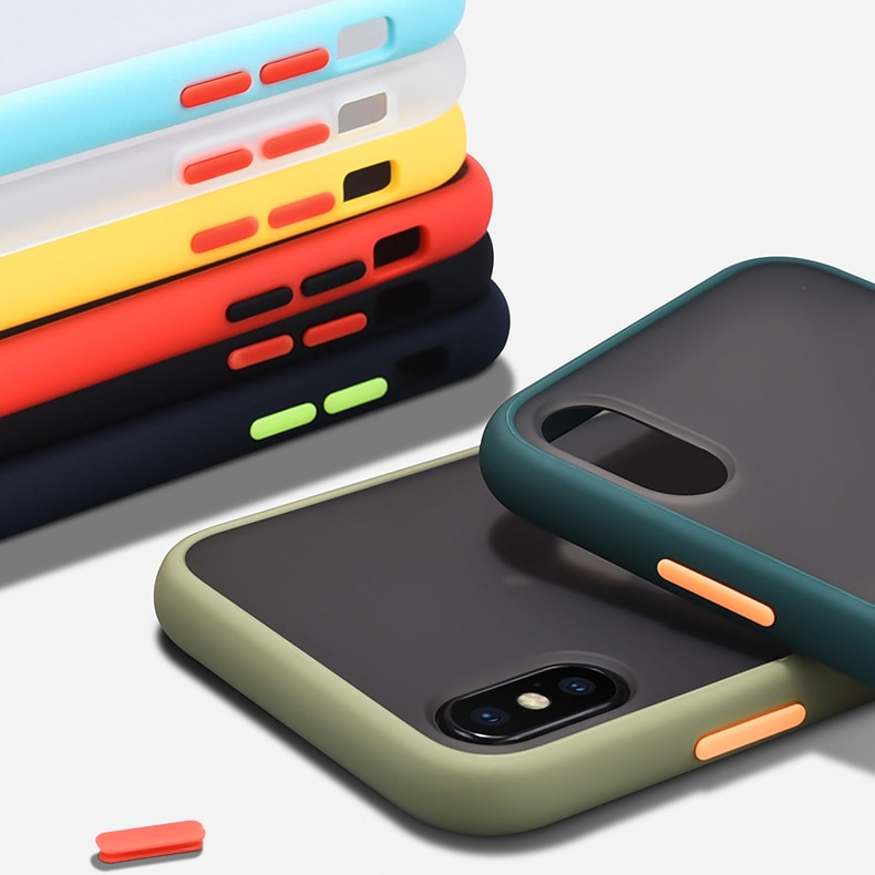 Съемный матовый Силиконовый ударопрочный чехол-бампер для телефона iPhone11 Pro Max 10 X XR XS, Жесткий Чехол из поликарбоната для iPhone 8 7 6 6S Plus