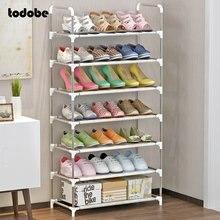 Multi-layer Simple Shoe Rack Nonwoven Dustproof Hallway Shoe Rack Cabinet Entryway Shoes Organizer Detachable Storage Shoe Shelf