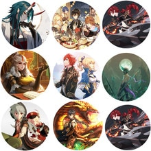 Online Game Anime Genshin Impact Brooch Boys Girls Cosplay Badges For Clothes Backpack Decoration Pin Jewelry