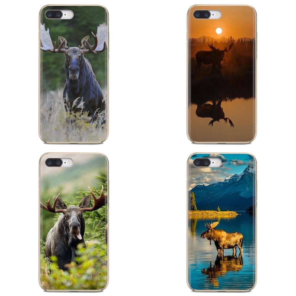 Para Samsung Galaxy J1 J2 J3 J4 J5 J6 J7 J8 Plus 2018 primer 2015 de 2016 de 2017 hermosa del teléfono de silicona caso de Alaska Bull Moose