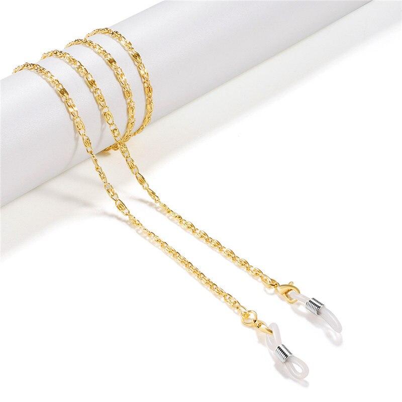 Ouro prata preto banhado a cobre link corrente óculos de leitura óculos corda óculos de sol cinta cabo titular colar banda acessório