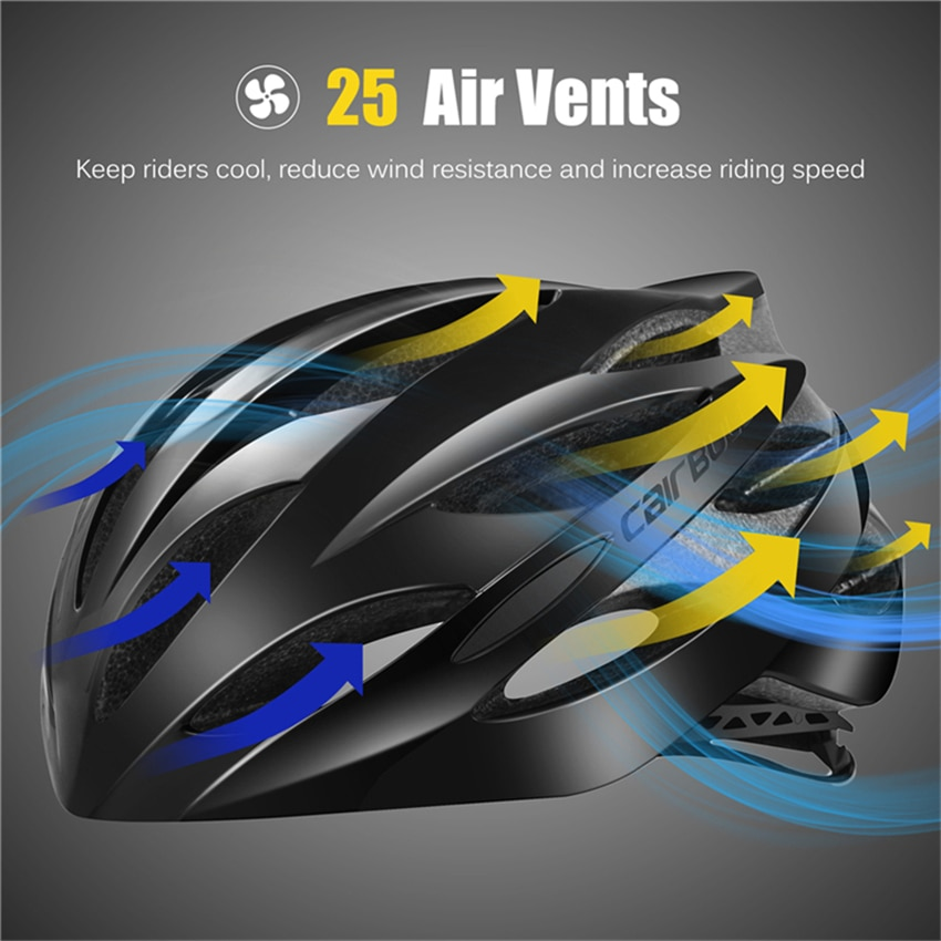 Cairbull Ultralight Cycling Helmets with Sunglasses Gift Intergrally-molded MTB Bicycle Helmet Racing Mountain Road Bike Helmet