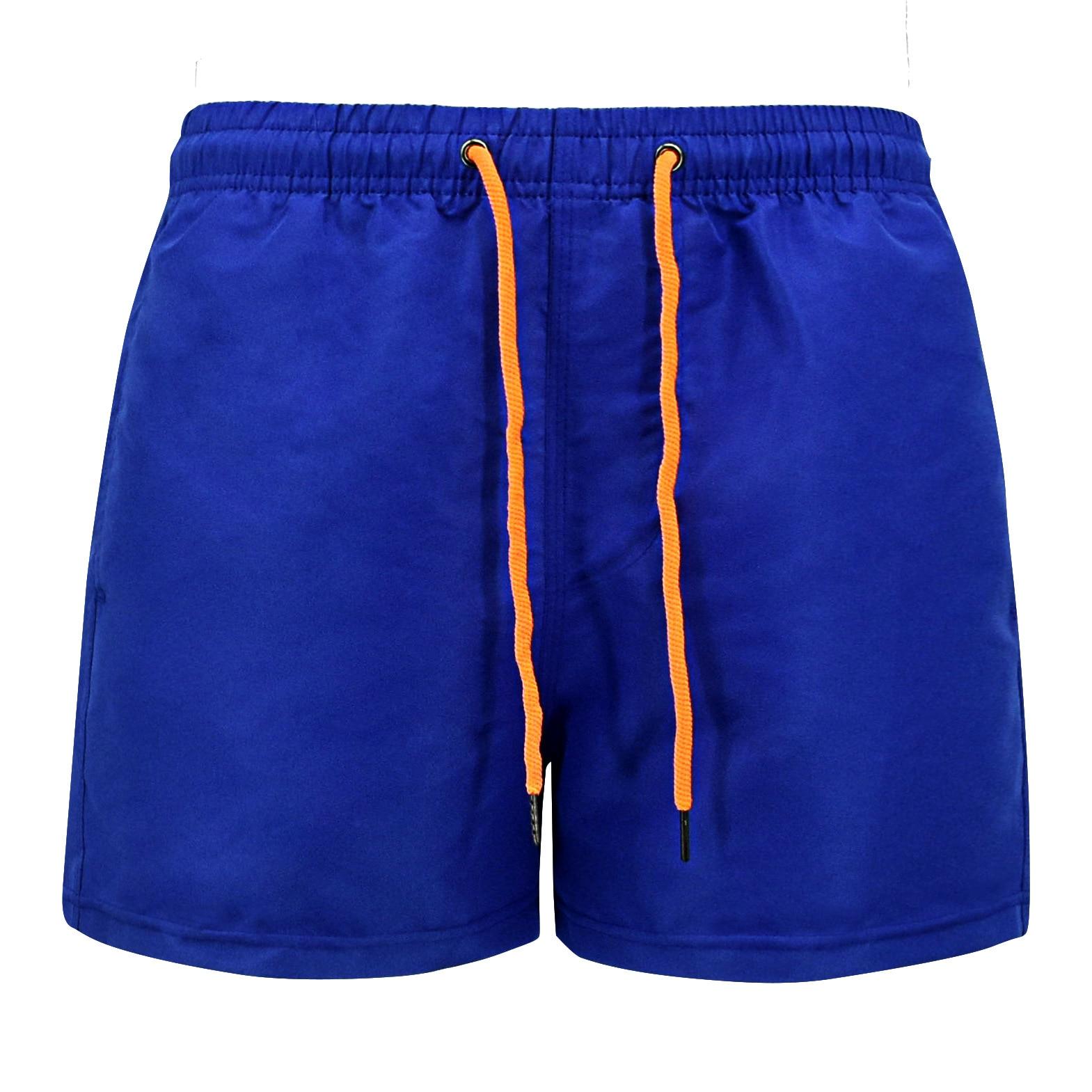 Fashion Mens Surf Board Shorts Blue Beach Shorts Men Lace Up Bike Jogger Running Sports Fitness Shorts Male Plus Size Xxxl 4xl