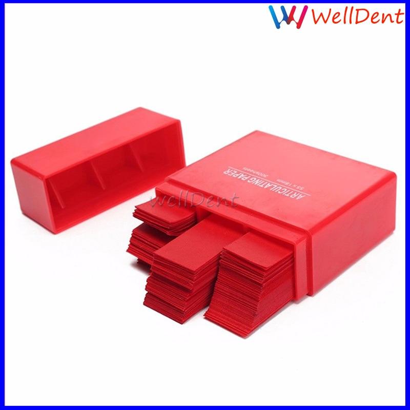 300 Sheet Dental Articulating Paper Strips Red Dental Lab Product Oral Care E2F5 Dental Materials