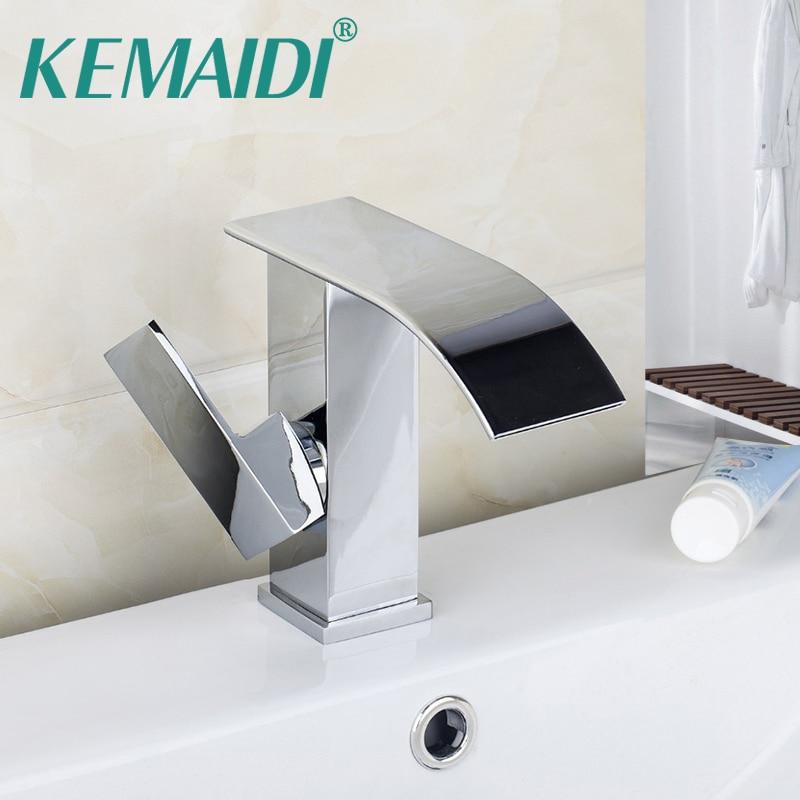 KEMAIDI-صنبور حوض كروم ، حنفية حمام بمقبض واحد ، إنشائي جديد